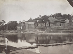View of a temple at the Kundas or bathing places, Nasik 12519